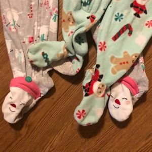 Carter's One Pieces - 24 Month Christmas Zipper Footy Pajamas❄️☃️